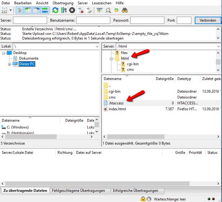 SSL-Zertifikat Umleiten